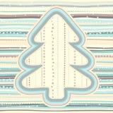 Kerstmispatroon in lichte pastelkleuren Royalty-vrije Stock Afbeelding