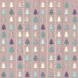 Kerstmispatroon in lichte pastelkleuren Royalty-vrije Stock Fotografie