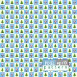 Kerstmispatroon van pixelart. Stock Foto's