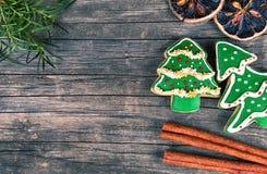Kerstmispeperkoek Stock Afbeeldingen