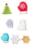 Kerstmispeperkoek Royalty-vrije Stock Afbeeldingen