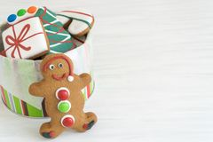 Kerstmispeperkoek Front View Stock Afbeelding