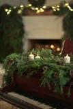 Kerstmispiano Stock Foto