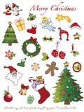 Kerstmispictogrammen Stock Afbeelding