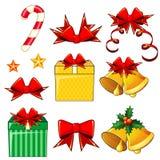 Kerstmispictogrammen Royalty-vrije Stock Foto's