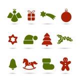 Kerstmispictogrammen Stock Afbeeldingen