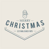 Kerstmispictogrammen geplaatst embleem Stock Foto