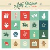Kerstmispictogrammen - Illustratie Royalty-vrije Stock Afbeelding