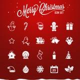 Kerstmispictogrammen - Illustratie Stock Fotografie