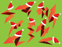 Kerstmispijlen Geplaatst Pak royalty-vrije illustratie