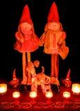 Kerstmispoppen stock afbeeldingen