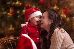 Kerstmisportret Royalty-vrije Stock Afbeeldingen