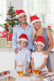Kerstmisportret van de familie Royalty-vrije Stock Afbeeldingen