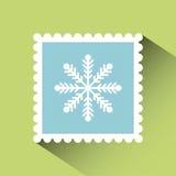 Kerstmispostzegel Royalty-vrije Stock Foto's
