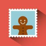Kerstmispostzegel Royalty-vrije Stock Fotografie