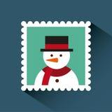 Kerstmispostzegel Royalty-vrije Stock Afbeelding