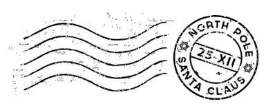 Kerstmispostzegel op wit wordt geïsoleerd dat Vector Stock Foto
