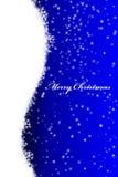 Kerstmisprentbriefkaar met boom Stock Afbeelding