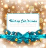 Kerstmisprentbriefkaar met Traditionele Decoratie Royalty-vrije Stock Foto's