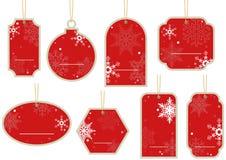 Kerstmisprijskaartje Stock Afbeelding