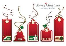 Kerstmisprijskaartjes Stock Foto's