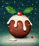 Kerstmispudding stock illustratie