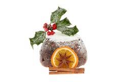 Kerstmispudding Stock Foto's