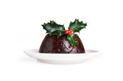 Kerstmispudding Stock Foto's