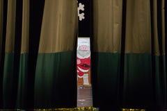Kerstmisrecitatie Stock Foto's