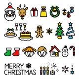 Kerstmisreeks royalty-vrije illustratie