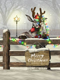 Kerstmisrendier stock foto