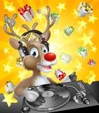 Kerstmisrendier DJ Stock Afbeeldingen