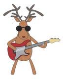 Kerstmisrendier het spelen gitaar Royalty-vrije Stock Afbeelding