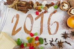 2016 Kerstmissamenstelling Royalty-vrije Stock Afbeeldingen
