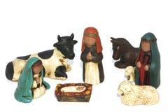 Kerstmisscène van de geboorte van Christus Royalty-vrije Stock Fotografie