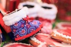 Kerstmisschoenen Royalty-vrije Stock Foto's