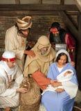 Kerstmisscène van Wisemen Stock Afbeeldingen