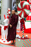 Kerstmisseizoen in de Boomgaardweg van Singapore Stock Foto's