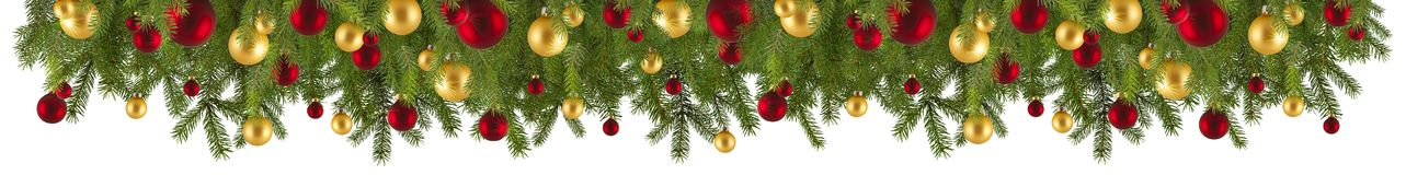 Kerstmisslinger met ornamenten en spartakken Royalty-vrije Stock Fotografie