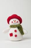 Kerstmissneeuwman Stock Foto's