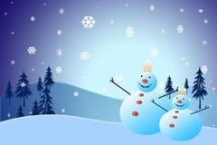 Kerstmissneeuwman Royalty-vrije Stock Foto