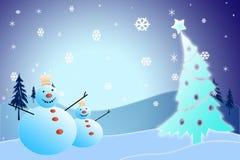 Kerstmissneeuwman Royalty-vrije Stock Fotografie
