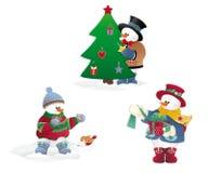 Kerstmissneeuwman Royalty-vrije Stock Afbeelding
