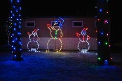 Kerstmissneeuwmannen Stock Afbeelding