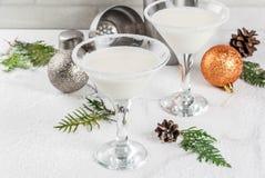 Kerstmissneeuwvlok Martini Royalty-vrije Stock Fotografie