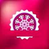 Kerstmissneeuwvlok op rode purple. + EPS8 Royalty-vrije Stock Afbeeldingen