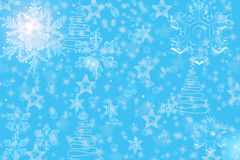 Kerstmissneeuwvlokken Stock Afbeelding