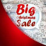 Kerstmissneeuwvlokken met grote verkoop. + EPS10 Stock Afbeeldingen