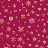 Kerstmissneeuwvlokken naadloze het herhalen patroonachtergrond Eps 10 royalty-vrije illustratie