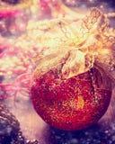 Kerstmissnuisterij op decoratielijst, de achtergrond van het vakantieornament Stock Afbeelding